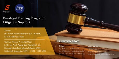 [PAID TRAINING] PARALEGAL TRAINING – LITIGATION SUPPORT tickets