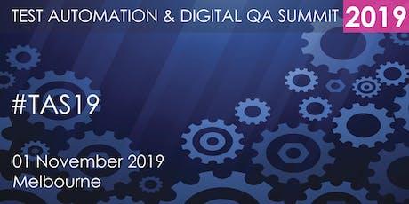Test Automation and Digital QA Summit 2019 - Melbourne tickets