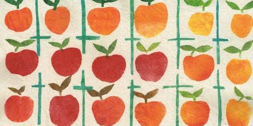 Folk Fabric Stencilling with artist Vanessa Stone