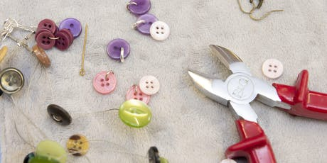 Community Learning - Button Jewellery Making - An Introduction - Grove Street Methodist Church Hall tickets