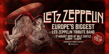 LETZ ZEPPELIN - Europe's biggest tribute band is coming to Guernsey! tickets