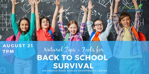 Back to School Survival!  Natural Tips + Tools