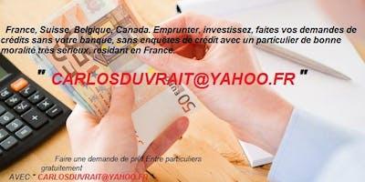 Offre de prêt entre Particulier sérieux et honnête en 72 heures en France