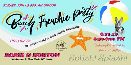 Indoor Frenchie Beach Party - French Bulldog Meetup tickets