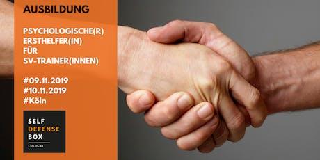Ausbildung zur/zum psychologische(r) Ersthelfer(in) für SV-Trainer(innen) Tickets
