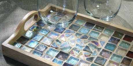 Mosaic Tile Tray -  Create and Sip Party Art Maker Class tickets