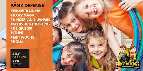Probetraining Pänz Defense Selbstverteidigung für Kinder von 6 bis 9 Jahre Mittwochs Tickets