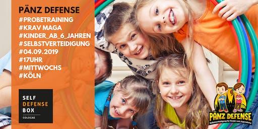 Probetraining Pänz Defense Selbstverteidigung für Kinder von 6 bis 9 Jahre Mittwochs