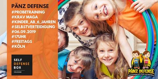 Probetraining Pänz Defense Selbstverteidigung für Kinder von 6 bis 9 Jahre Freitags