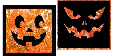 YOUR CHOICE - Pumpkin Pour Paintings -  Paint Create and Sip Party Art Maker Class tickets
