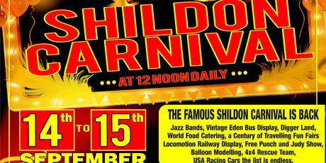 "SHILDON CARNIVAL IS BACK  Local business ""Carnival Fun Fairs"" are resurrecting the famous Shildon Carnival for one year only.  It was the biggest SW Durham event back in the day everyone in the town and locals all remember it when it was at the the Scouts tickets"