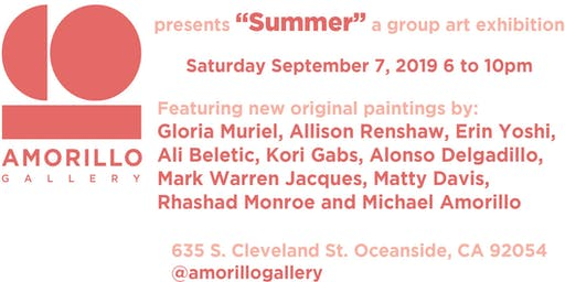 """""""Summer""""  a grand opening group art exhibition at the Amorillo Gallery"""