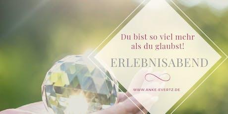 """Erlebnisabend """"Neun Tage Unendlichkeit"""" Tickets"""