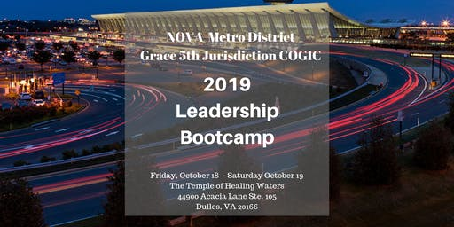 2019 NOVA Metro and G5 Jurisdiction Leadership Conference and Bootcamp