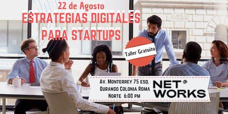 Estrategias Digitales para Startups boletos