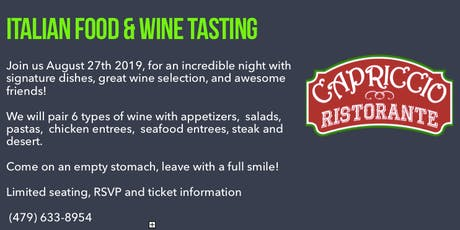 Italian Food & Wine Tasting tickets