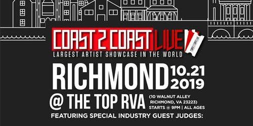 Coast 2 Coast LIVE Artist Showcase Richmond, VA - $50K Grand Prize
