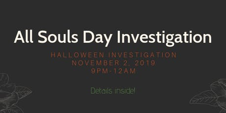 All Souls Day Investigation in Gettysburg tickets