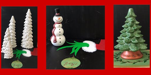 "Adult Open Ceramics ""Assorted Christmas Trees, Mats, Etc"""