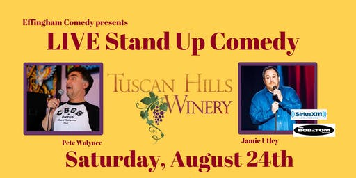 Live Stand Up Comedy at Tuscan Hills with Jamie Utley