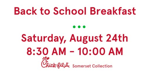 Kids Club - Back to School Breakfast