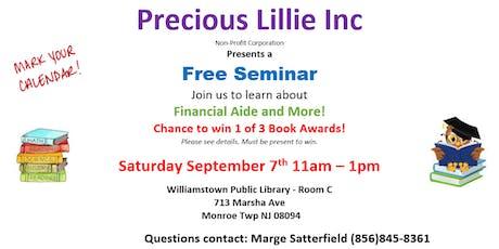 Precious Lillie Inc. Free Financial Aid Seminar tickets