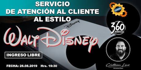 SERVICIO DE ATENCIÓN AL CLIENTE AL ESTILO DISNEY  tickets