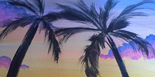 Adult Paint- Tropical Sunset (16+ years)(Level 2)