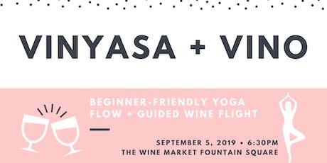 Vinyasa + Vino tickets