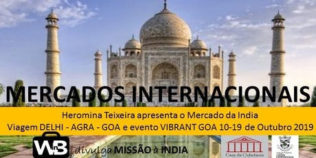 MERCADOS INTERNACIONAIS | INDIA bilhetes