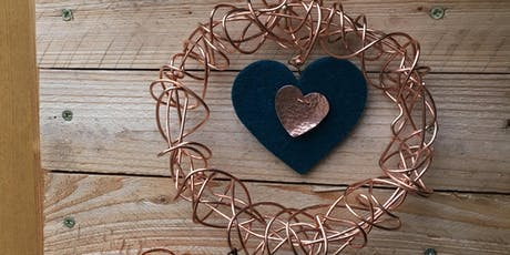 Copper wire wreath making tickets