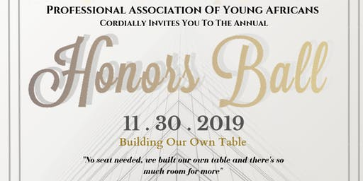 Professional Association of Young Africans (PAYA) Annual Honors Ball