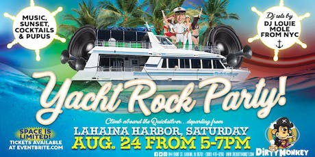 Dirty Monkey's Sunset Yacht Rock Party with DJ Louie Mole from NYC tickets