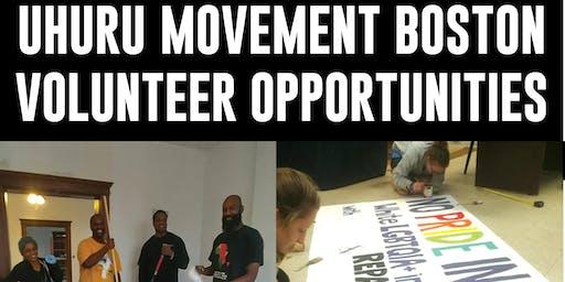Uhuru Movement Boston Volunteer Opportunities