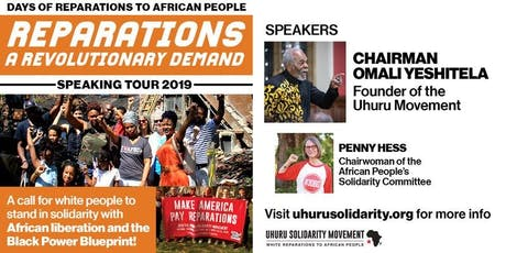 Reparations: A Revolutionary Demand! - Boston tickets