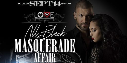 Love Remix Houston: All Black Masquerade Affair