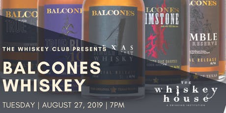 Whiskey Club with Balcones Whiskey tickets