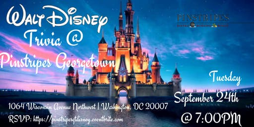 Disney Movie Trivia at Pinstripes Georgetown