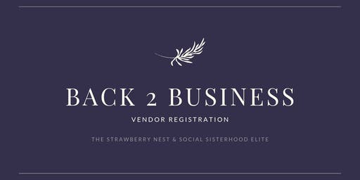 Back 2 Business Vendor Sign Up