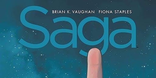 Brian K. Vaughan w/ Wyatt Cenac (Saga:Compendium One) at ASCQ DTLA.