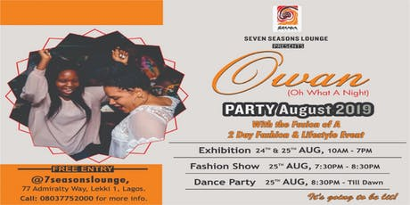 OWAN Fashion and Lifestyle Exhibition/Party tickets