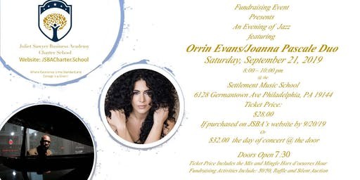 An Evening of  Jazz featuring Orrin Evans/Joanna Pascale Duo