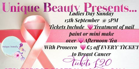 Unique Beauty Presents Shopping&Pamper For Breast Cancer With Afternoon Tea tickets
