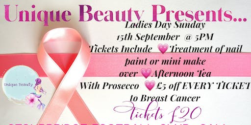 Unique Beauty Presents Shopping&Pamper For Breast Cancer With Afternoon Tea