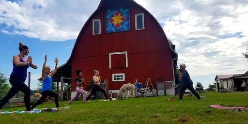 Sunset Goat & Alpaca Yoga on the Farm