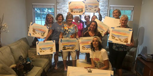 Watercolor Sip and Paint With Roseann