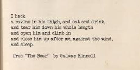 "Writing Allegory and Dream: Finding Inspiration in Kinnell's ""The Bear"" tickets"