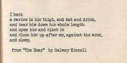 "Writing Allegory and Dream: Finding Inspiration in Kinnell's ""The Bear"""