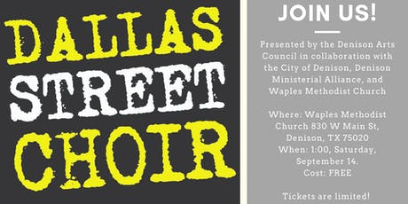 Dallas Street Choir Performance in Denison tickets