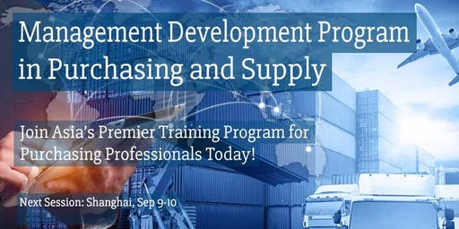 Management Development Program in Purchasing and Supply